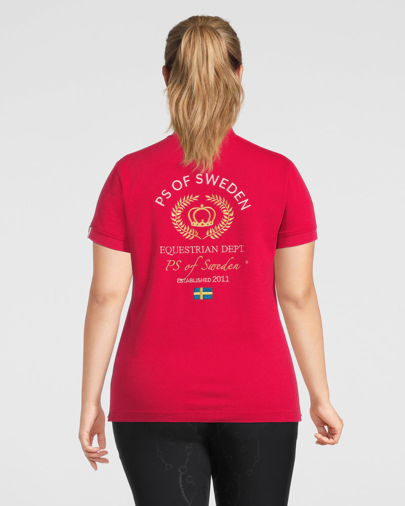 PS of Sweden Curvy Poppy polo shirt