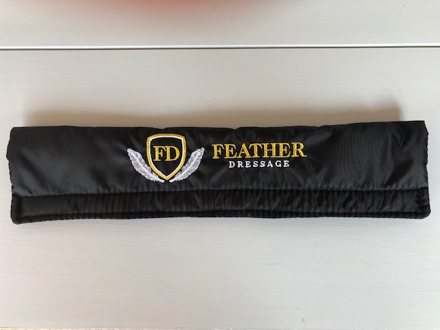 Feather Dressage Logo Waterproof Browband covers