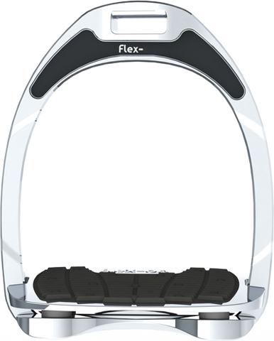 Flex On Aluminium Stirrup - Silver Aluminium