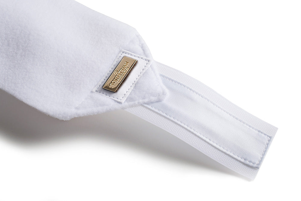 Equestrian Stockholm White with Gold fleece bandages