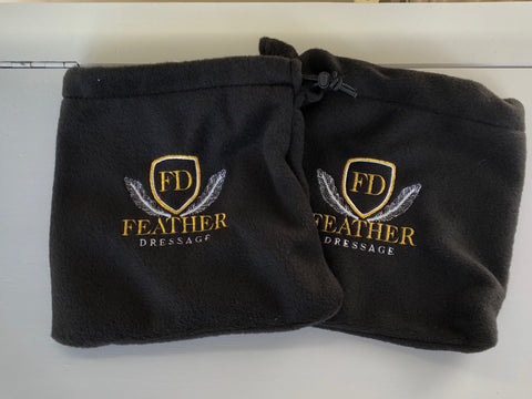 Feather Dressage Logo Stirrup covers/protectors
