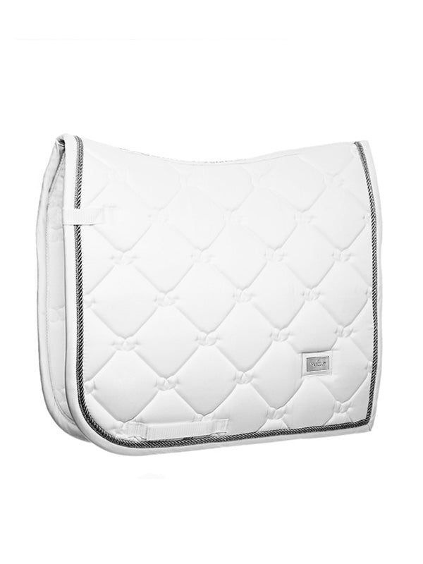 Equestrian Stockholm White Perfection Silver Dressage pad