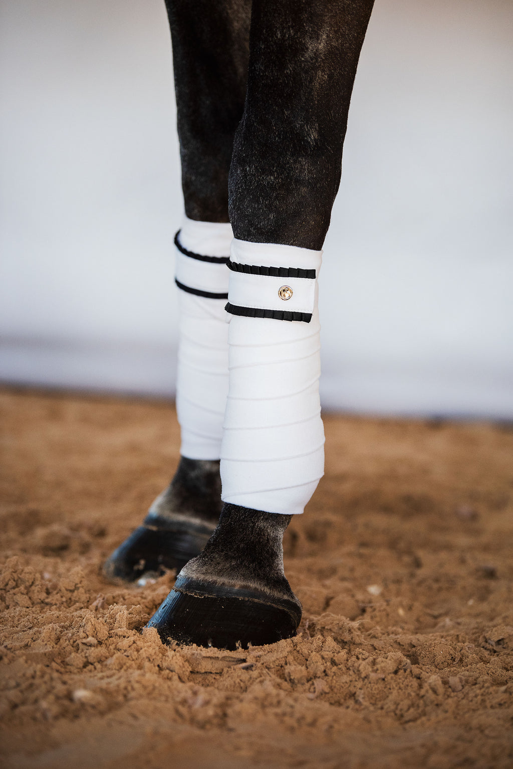 PS of Sweden White with Black ruffle bandages