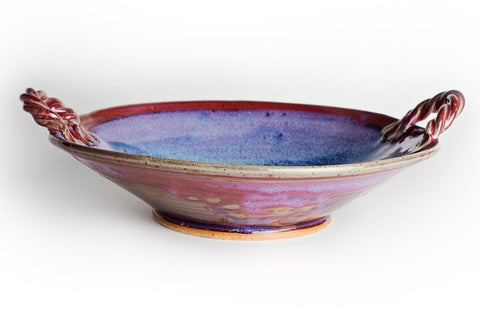 Serving Bowl with handles, Linda B Pottery, Pottery, Barre, Vermont
