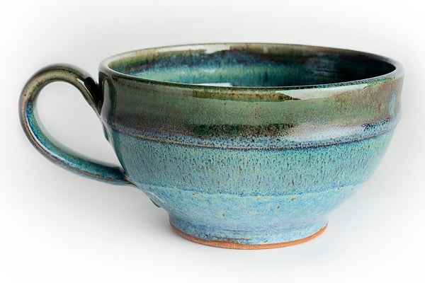soup bowl, soup mug, soup mug with handle,  Linda B Pottery, Pottery, Barre, Vermont