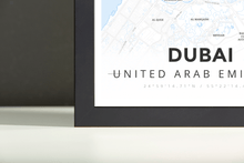 Framed Map Poster of Dubai United Arab Emirates - Modern Ski Map