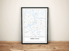 Premium Map Poster of Taipei Taiwan - Simple Ski Map - Unframed