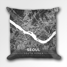 Map Throw Pillow of Seoul South Korea - Modern Contrast