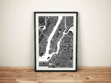 Premium Map Poster of New York United States - Subtle Contrast - Unframed