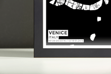 Framed Map Poster of Venice Italy - Subtle Black Ink - Venice Map Art