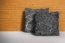 Map Throw Pillow of Chengdu Sichuan - Subtle Contrast - Chengdu Map Art