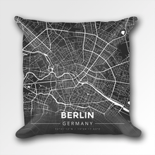Map Throw Pillow of Berlin Germany - Modern Contrast - Berlin Map Art