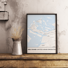 Premium Map Poster of Abu Dhabi United Arab Emirates - Simple Ski Map - Unframed - Abu Dhabi Map Art