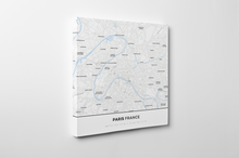 Gallery Wrapped Map Canvas of Paris France - Simple Ski Map