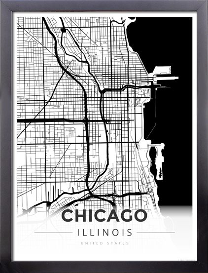 on chicago map poster