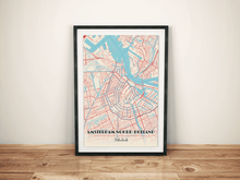 Premium Map Poster of Amsterdam Noord-Holland - Diner Retro - Unframed - Amsterdam Map Art