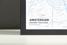 Framed Map Poster of Amsterdam Noord-Holland - Subtle Ski Map