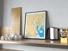 Premium Map Poster of Tokyo Japan - Subtle Colorful - Unframed