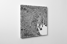 Gallery Wrapped Map Canvas of Tokyo Japan - Subtle Contrast