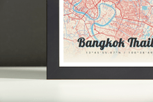 Framed Map Poster of Bangkok Thailand - Lobster Retro - Bangkok Map Art
