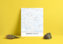 Premium Map Poster of Bangkok Thailand - Simple Ski Map - Unframed