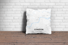 Map Throw Pillow of London England - Modern Ski Map