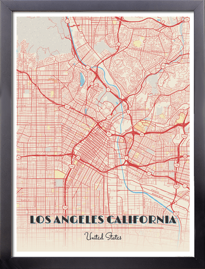 Framed Map Poster of Los Angeles California - Diner Retro - Los Angeles on cartoon united states, digital map of united states, central plains map united states, framed antique maps, mounted maps of united states, geographic maps rivers united states, paintings of united states, framed usa map, printable map of united states, inset map of the united states, framed historical texas maps, world of united states, framed us map with pins, drawings of united states, framed vintage maps, usa wall maps united states, rand mcnally map of the united states, large map of united states, map of the mountain ranges in united states, framed maps wall,
