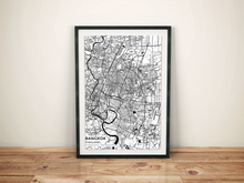 Premium Map Poster of Bangkok Thailand - Subtle Black Ink - Unframed