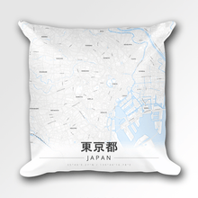 Map Throw Pillow of Tokyo Japan - Modern Ski Map