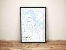 Premium Map Poster of Amsterdam Noord-Holland - Subtle Ski Map - Unframed