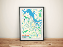 Premium Map Poster of Amsterdam Noord-Holland - Subtle Colorful - Unframed