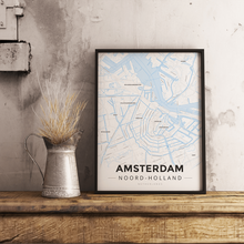 Premium Map Poster of Amsterdam Noord-Holland - Modern Ski Map - Unframed