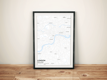 Premium Map Poster of London England - Subtle Ski Map - Unframed