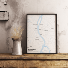 Premium Map Poster of Budapest Hungary - Subtle Ski Map - Unframed - Budapest Map Art