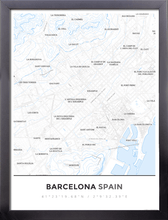 Framed Map Poster of Barcelona Spain - Simple Ski Map