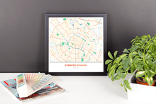 Framed Map Poster of Chengdu Sichuan - Simple Colorful - Chengdu Map Art
