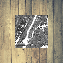 Gallery Wrapped Map Canvas of New York United States - Subtle Contrast