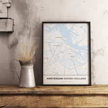 Premium Map Poster of Amsterdam Noord-Holland - Simple Ski Map - Unframed
