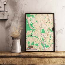 Premium Map Poster of Madrid Spain - Subtle Colorful - Unframed - Madrid Map Art