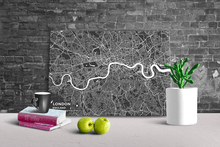 Gallery Wrapped Map Canvas of London England - Subtle Contrast