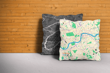 Map Throw Pillow of London England - Subtle Colorful