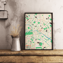 Premium Map Poster of Berlin Germany - Subtle Colorful - Unframed - Berlin Map Art