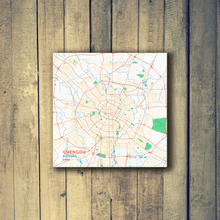 Gallery Wrapped Map Canvas of Chengdu Sichuan - Subtle Colorful - Chengdu Map Art