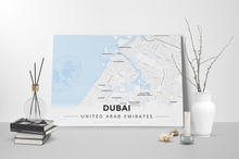 Gallery Wrapped Map Canvas of Dubai United Arab Emirates - Modern Ski Map