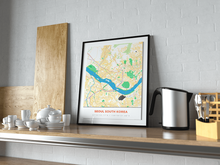 Premium Map Poster of Seoul South Korea - Simple Colorful - Unframed