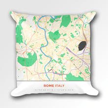 Map Throw Pillow of Rome Italy - Simple Colorful