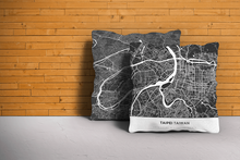 Map Throw Pillow of Taipei Taiwan - Simple Contrast