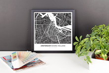 Framed Map Poster of Amsterdam Noord-Holland - Simple Contrast