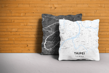 Map Throw Pillow of Taipei Taiwan - Modern Ski Map