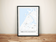 Premium Map Poster of Dubai United Arab Emirates - Simple Ski Map - Unframed